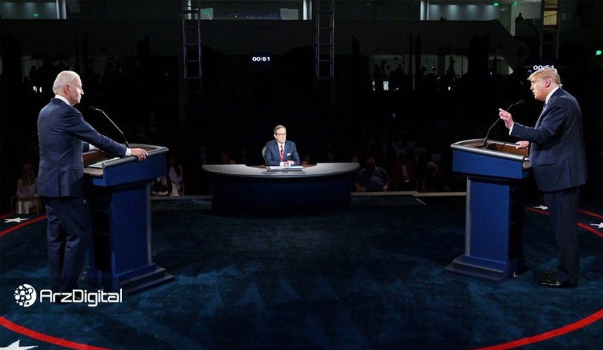 بازار پیشبینی ارزهای دیجیتال بعد از اولین مناظره علیه ترامپ است