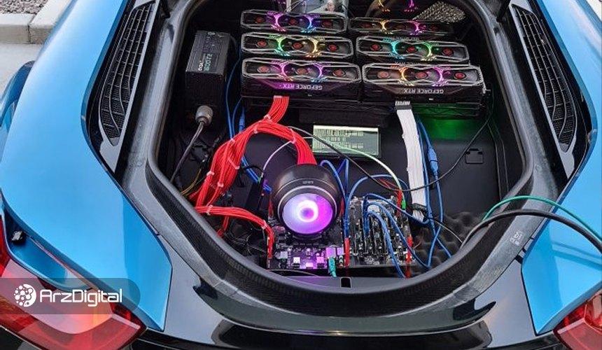 مردی در خودروی BMW خود ریگ استخراج ارز دیجیتال کار گذاشت