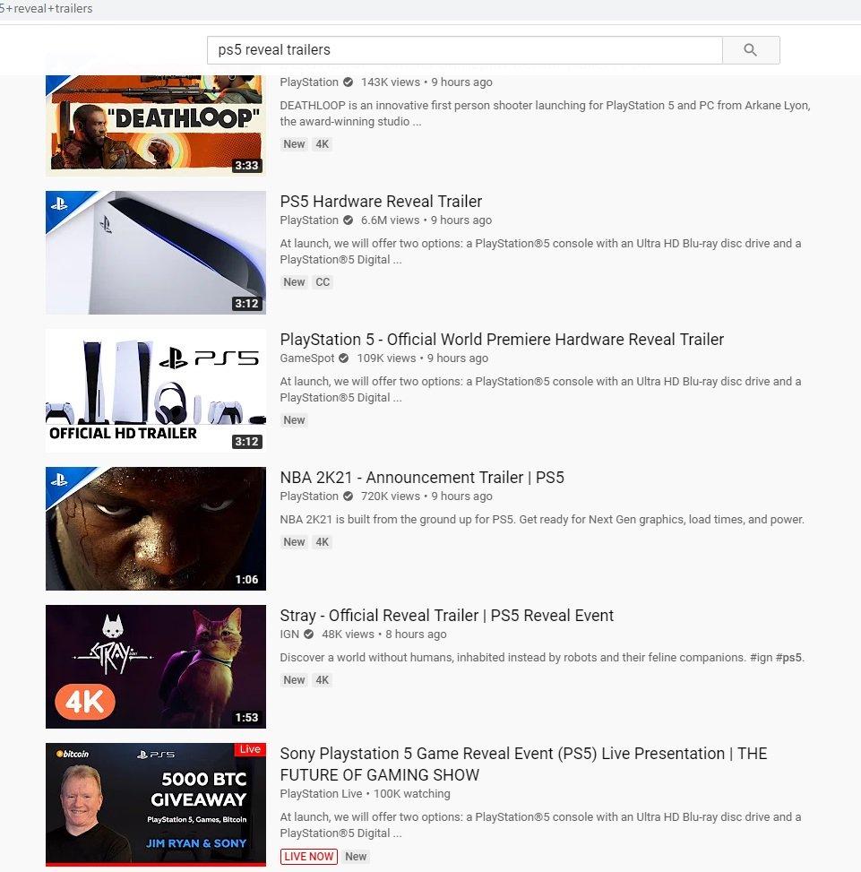 پنج ویدیوی برتر در ارتباط با پلی استیشن ۵