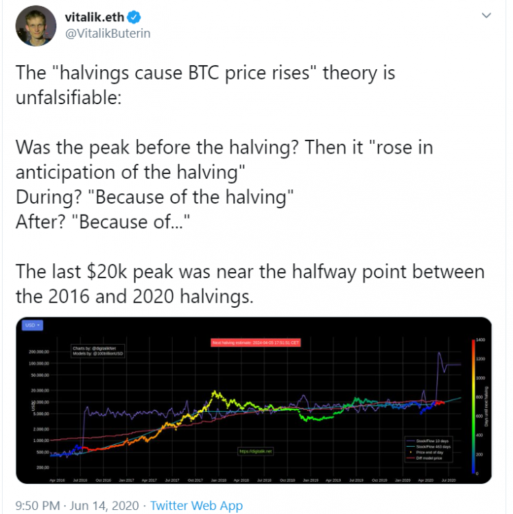 توییت ویتالیک بوترین در ارتباط با مدل انباشت به جریان