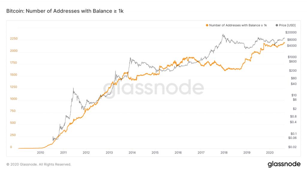 تعداد آدرسهای ثروتمند بیت کوین به بیشترین حد در تاریخ رسید